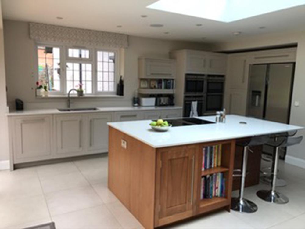 Harvey Jones Hand-Painted Island Kitchen with Silestone Worktops