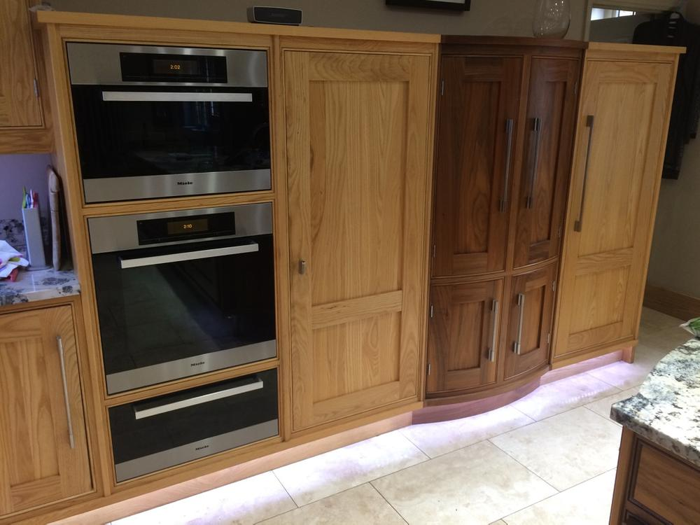 Handmade Oak and Walnut Shaker Style Kitchen